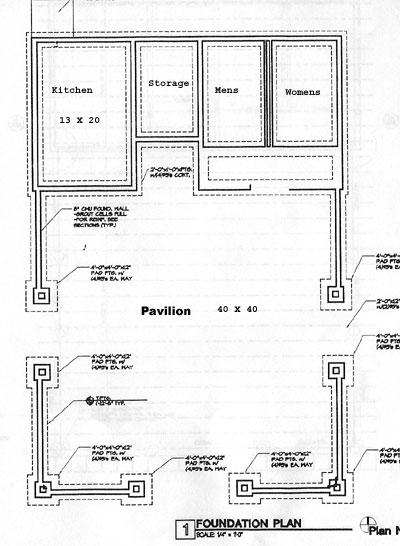 Proposed Westside Park Pavilion Blueprints